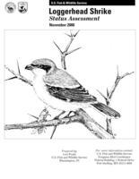 Loggerhead shrike status assessment
