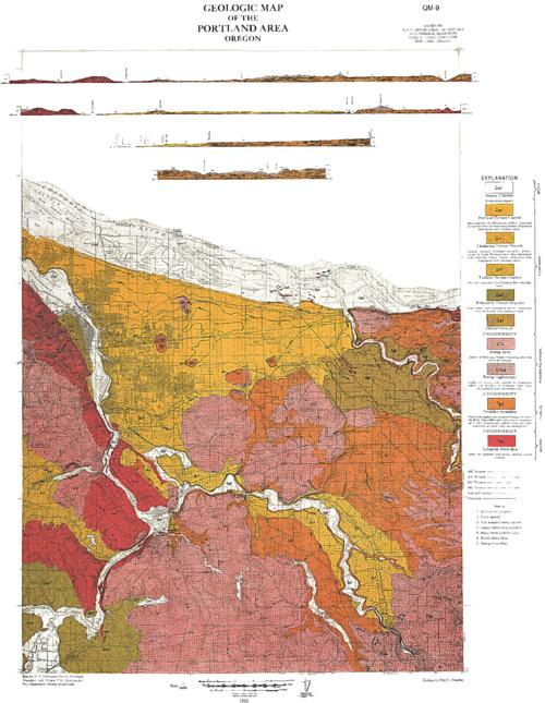 Geologic Map Of The Portland Area Oregon Oregon State Library - Portland oregon on us map
