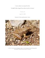 Conservation assessment for the foothill yellow-legged frog (Rana boylii) in...