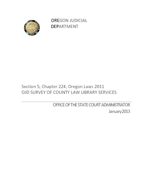 This archived document is maintained by the Oregon State Library as part of the Oregon Documents Depository Program.  It is for informational purposes and may not be suitable for legal purposes., Title from PDF cover (viewed on November 7, 2013), Mode of access: Internet from the Oregon Government Publications Collection.