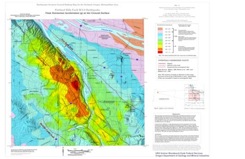 Earthquake Scenario Ground Shaking Maps For The Portland Oregon - Portland on us map