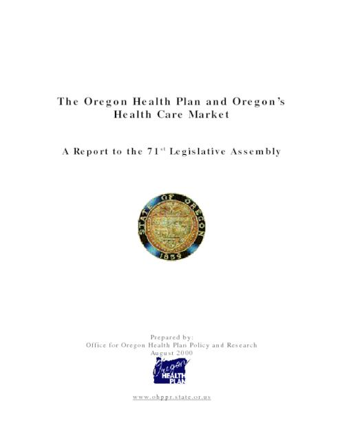 "This archived document is maintained by the Oregon State Library as part of the Oregon Documents Depository Program.  It is for informational purposes and may not be suitable for legal purposes., Title from cover, ""August 2000."", OrDocs shipping list 2004-12, Mode of access: Internet from the Oregon Government Publications Collection."
