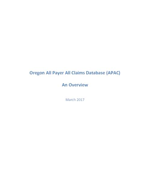 Title from PDF cover (viewed on April 6, 2017)., This archived document is maintained by the Oregon State Library as part of the Oregon Documents Depository Program. It is for informational purposes and may not be suitable for legal purposes., Includes bibliographical references., Mode of access: Internet from the Oregon Government Publications Collection., Text in English.