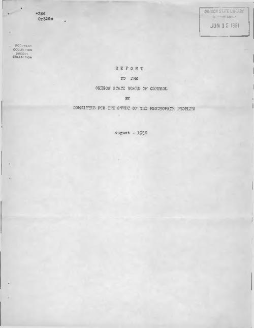 Typescript., Title from PDF cover (viewed on April 17, 2017)., This archived document is maintained by the Oregon State Library as part of the Oregon Documents Depository Program. It is for informational purposes and may not be suitable for legal purposes., Mode of access: Internet from the Oregon Government Publications Collection., Text in English.