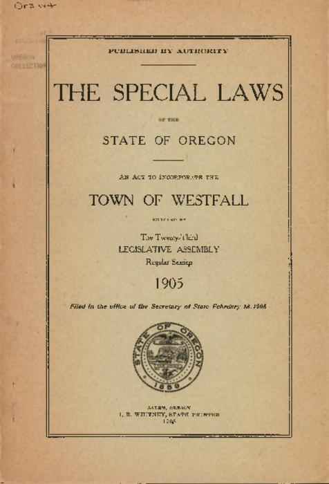 Title from PDF title page (viewed on April 19, 2017)., This archived document is maintained by the Oregon State Library as part of the Oregon Documents Depository Program. It is for informational purposes and may not be suitable for legal purposes., Mode of access: Internet from the Oregon Government Publications Collection., Text in English.