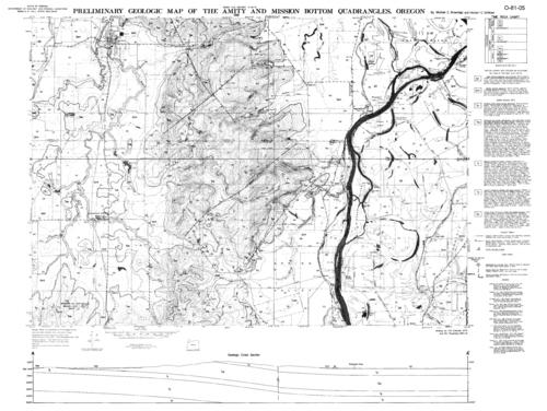 This archived document is maintained by the Oregon State Library as part of the Oregon Documents Depository Program.  It is for informational purposes and may not be suitable for legal purposes., Based on a map originally published by the U.S. Geological Survey, Relief shown by contours and spot heights, Time rock chart and Geologic cross section in margins, Includes bibliography, Mode of access: Internet from the Oregon Government Publications Collection., Text in English.