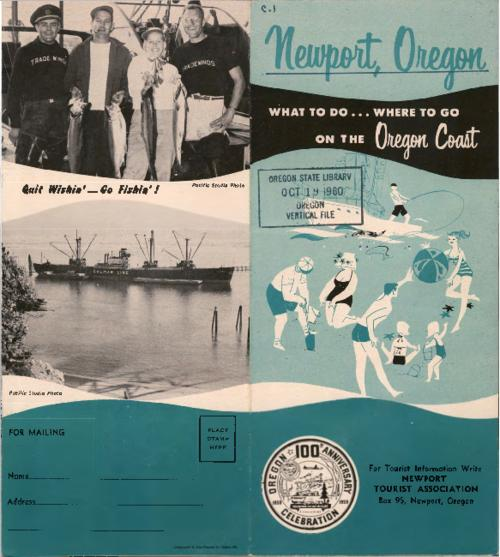 "Includes photographs by Pacific Studio Photo., Includes map: ""Fishing guide to Yaquina Bay, Newport, Ore."", Title from PDF cover (viewed on May 4, 2017)., This archived document is maintained by the State Library of Oregon as part of the Oregon Documents Depository Program. It is for informational purposes and may not be suitable for legal purposes., Mode of access: Internet from the Oregon Government Publications Collection., Text in English."