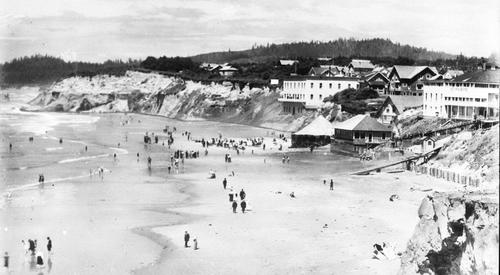 Beachfront houses, Views from Newport, Oregon., Courtesy of Oregon State Library