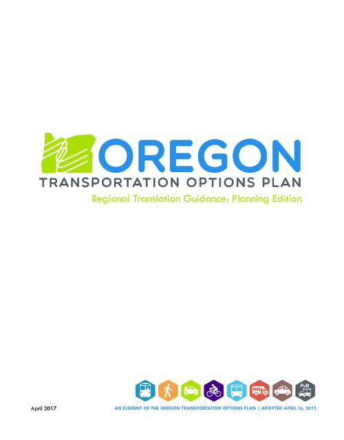 "Title from PDF cover (viewed on May 16, 2017)., ""An element of the Oregon transportation options plan. Adopted April 16, 2015."", This archived document is maintained by the State Library of Oregon as part of the Oregon Documents Depository Program. It is for informational purposes and may not be suitable for legal purposes., Includes bibliographical references., Mode of access: Internet from the Oregon Government Publications Collection., Text in English."