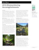 ... biomonitoring accomplishments