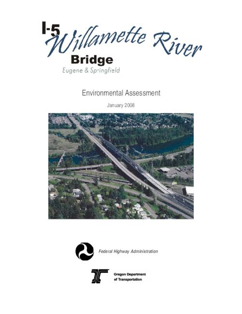 "This archived document is maintained by the Oregon State Library as part of the Oregon Documents Depository Program.  It is for informational purposes and may not be suitable for legal purposes., Title from PDF caption (viewed on Nov. 4, 2010), Part of series: I-5 Willamette River Bridge project, bundle 220, ""January 2008."", Includes bibliographical references (p. 112-114), Key no. 14259, Mode of access: Internet from the Oregon Government Publications Collection."