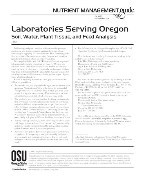 "This archived document is maintained by the Oregon State Library as part of the Oregon Documents Depository Program.  It is for informational purposes and may not be suitable for legal purposes., Title from caption, ""Revised June 2006, Revised May 2008."", Mode of access: Internet from the Oregon Government Publications Collection."