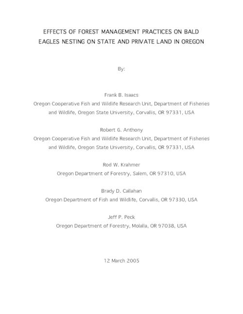 "This archived document is maintained by the Oregon State Library as part of the Oregon Documents Depository Program.  It is for informational purposes and may not be suitable for legal purposes., Title from PDF title page (viewed on Apr. 27, 2006), ""12 March 2005."", Includes bibliographical references, Mode of access: Internet from the Oregon Government Publications Collection."