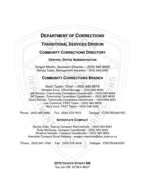 "This archived document is maintained by the Oregon State Library as part of the Oregon Documents Depository Program.  It is for informational purposes and may not be suitable for legal purposes., ""Revised December 14, 2005""--P. 2, Title from PDF title page (viewed on Apr. 20, 2006), Mode of access: Internet from the Oregon Government Publications Collection."