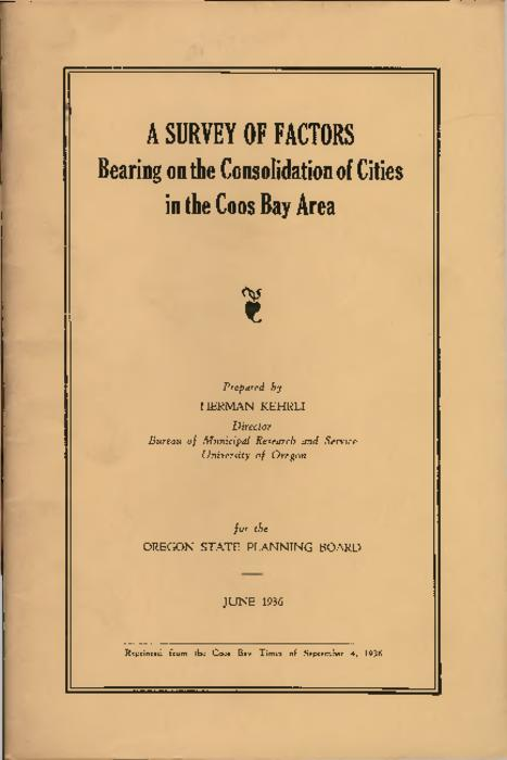"""Reprinted from the Coos Bay Times of September 4, 1936"" -- Cover., Title from PDF title page (viewed on May 23, 2017)., This archived document is maintained by the State Library of Oregon as part of the Oregon Documents Depository Program. It is for informational purposes and may not be suitable for legal purposes., Mode of access: Internet from the Oregon Government Publications Collection., Text in English."