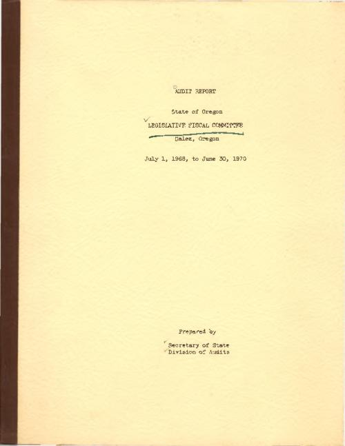 Typescript., Title from PDF cover (viewed on May 23, 2017)., This archived document is maintained by the State Library of Oregon as part of the Oregon Documents Depository Program. It is for informational purposes and may not be suitable for legal purposes., Mode of access: Internet from the Oregon Government Publications Collection., Text in English.