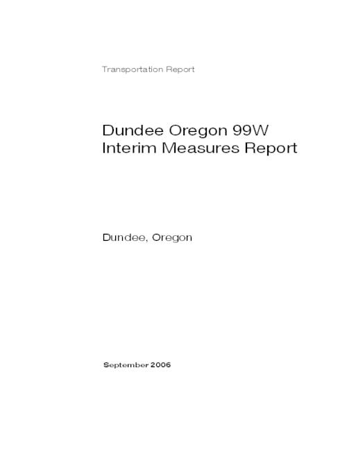 "This archived document is maintained by the Oregon State Library as part of the Oregon Documents Depository Program.  It is for informational purposes and may not be suitable for legal purposes., Title from PDF caption (viewed on Apr. 15, 2011), ""September 2006."", ""Kittelson Project No. 7577.0."", Logo: Oregon Dept. of Transportation, Includes bibliographical references, Mode of access: Internet from the Oregon Government Publications Collection."