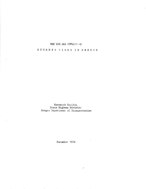 "This archived document is maintained by the Oregon State Library as part of the Oregon Documents Depository Program.  It is for informational purposes and may not be suitable for legal purposes., Title from PDF title page (viewed on May 23, 2011), ""December 1974"" -- Cover, ""January 1981"" -- Notice, [p.2], Includes bibliographical references (p. 42-43), Mode of access: Internet from the Oregon Government Publications Collection."