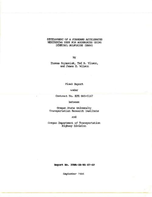 "This archived document is maintained by the Oregon State Library as part of the Oregon Documents Depository Program.  It is for informational purposes and may not be suitable for legal purposes., ""September 1986."", Bibliography: p. 135-139, Performed by Oregon State University, Dept. of Civil Engineering in cooperation with the Federal Highway Administration under contract no. HPR 085-5167, Mode of access: Internet from the Oregon Government Publications Collection., Final report. April 1985-June 1986"