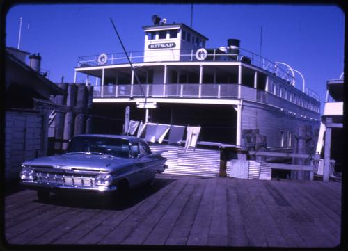MV Kitsap ferry operated by Washington State Ferries., Photo by Glenn G. Groff., Courtesy of State Library of Oregon.