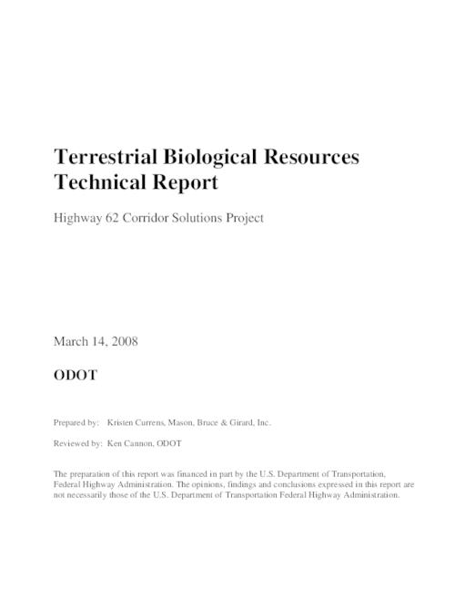 "This archived document is maintained by the Oregon State Library as part of the Oregon Documents Depository Program.  It is for informational purposes and may not be suitable for legal purposes., Title from PDF title page (viewed on June 15, 2011), ""March 14, 2008."", Includes bibliographical references (p. [94]-[98]), The preparation of this report was financed in part by the U.S. Department of Transportation Federal Highway Administration, Mode of access: Internet from the Oregon Government Publications Collection."