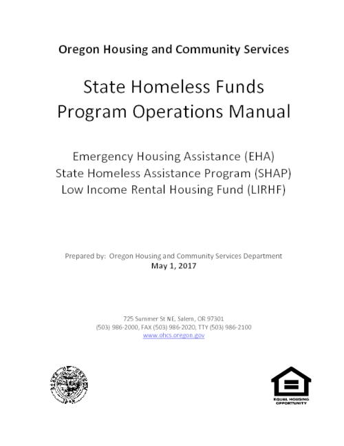 state homeless funds program operations manual oregon state library rh digital osl state or us Office Operations Manual hedge fund operations manual