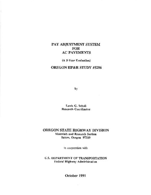 "This archived document is maintained by the Oregon State Library as part of the Oregon Documents Depository Program.  It is for informational purposes and may not be suitable for legal purposes., ""...in cooperation with U.S. Department of Transportation, Federal Highway Administration."", Includes bibliographical references (p. 32), Mode of access: Internet from the Oregon Government Publications Collection."