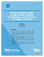 Earning college credits in high school: options, participation, and outcomes...