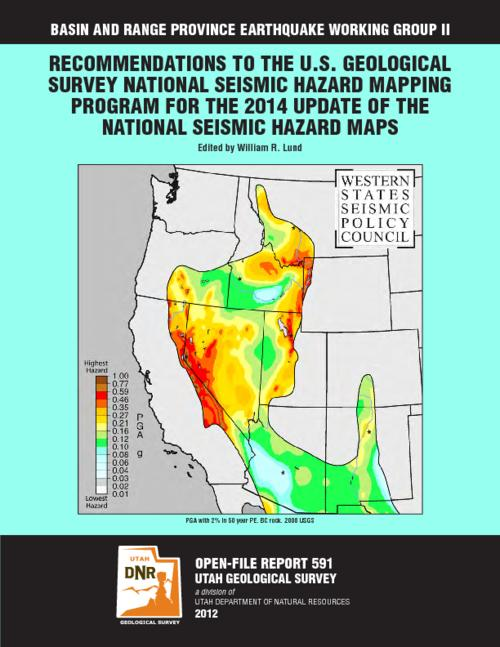 Recommendations To The US Geological Survey National Seismic - Us seismic hazard map