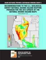 Recommendations to the U.S. Geological Survey national seismic hazard mapping...