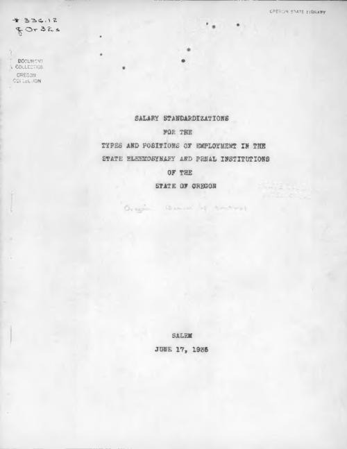 Prepared in cooperation with the Budget Division., Typescript., Title from PDF cover (viewed on July 11, 2017)., This archived document is maintained by the State Library of Oregon as part of the Oregon Documents Depository Program. It is for informational purposes and may not be suitable for legal purposes., Mode of access: Internet from the Oregon Government Publications Collection., Text in English.