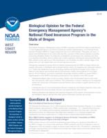 Biological opinion for the federal emergency management agency's national flood...