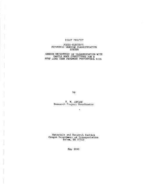 "This archived document is maintained by the Oregon State Library as part of the Oregon Documents Depository Program.  It is for informational purposes and may not be suitable for legal purposes., Title from PDF title page (viewed on Aug. 3, 2011), ""May 1990."", Mode of access: Internet from the Oregon Government Publications Collection."