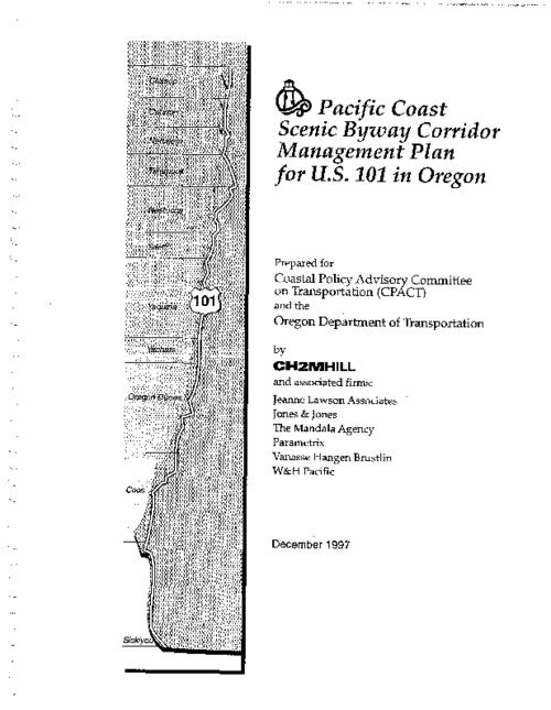 Title from PDF cover (viewed on September 24, 2019)., This archived document is maintained by the State Library of Oregon as part of the Oregon Documents Depository Program. It is for informational purposes and may not be suitable for legal purposes., Production of this document is authorized under a contract with the Oregon Department of Transportation, with funds originating from a grant by the Federal Highway Administration., Mode of access: Internet from the Oregon Government Publications Collection., Text in English.