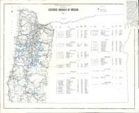 001 Map showing covered bridges of Oregon, Covered bridges of Oregon