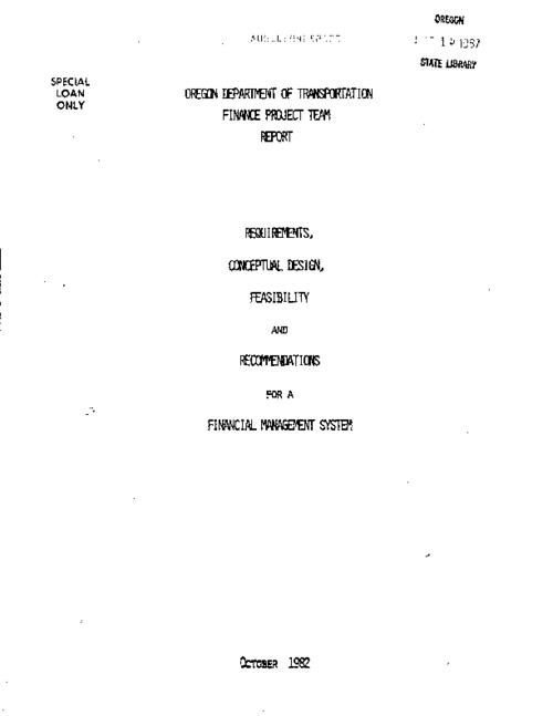 "This archived document is maintained by the Oregon State Library as part of the Oregon Documents Depository Program.  It is for informational purposes and may not be suitable for legal purposes., ""October 1982."", Title from cover, Mode of access: Internet from the Oregon Government Publications Collection."