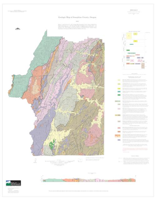 Geologic Map Of Josephine County Oregon Oregon State Library - Oregon county map