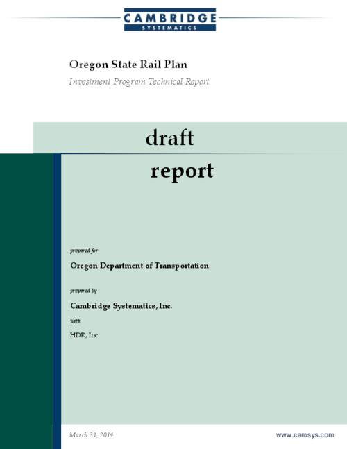 "This archived document is maintained by the Oregon State Library as part of the Oregon Documents Depository Program.  It is for informational purposes and may not be suitable for legal purposes., Title from PDF title page (viewed on April 21, 2014), ""Draft report""--Cover, Includes bibliographical references, Mode of access: Internet from the Oregon Government Publications Collection."