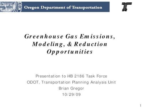 "This archived document is maintained by the Oregon State Library as part of the Oregon Documents Depository Program.  It is for informational purposes and may not be suitable for legal purposes., Title from PDF caption (viewed on Sept. 22, 2011), ""10/29/09."", ""Presentation to HB 2186 Task Force."", Mode of access: Internet from the Oregon Government Publications Collection."