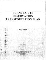 Burns Paiute Reservation transportation plan