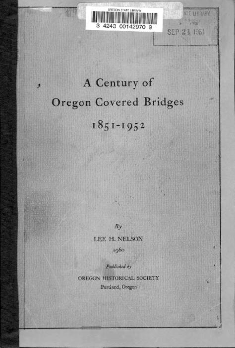 """Reprinted from Oregon historical quarterly, June 1960."", Title from PDF title page (viewed on August 17, 2017)., This archived document is maintained by the State Library of Oregon as part of the Oregon Documents Depository Program. It is for informational purposes and may not be suitable for legal purposes., Mode of access: Internet from the Oregon Government Publications Collection., Text in English."
