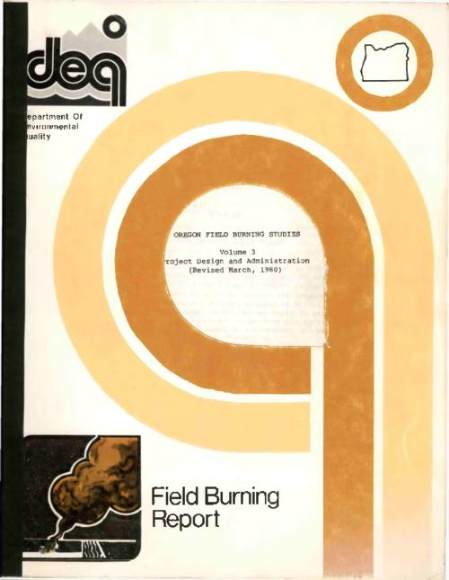 """Field burning report""--Cover., OR EQ. 4F45:W66/3., Title from PDF title page (viewed on August 22, 2017)., This archived document is maintained by the State Library of Oregon as part of the Oregon Documents Depository Program. It is for informational purposes and may not be suitable for legal purposes., Includes bibliographical references., Mode of access: Internet from the Oregon Government Publications Collection., Text in English."