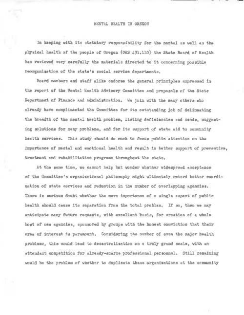 Includes Actions of Oregon State Board of Eugenics for the Biennium July 1, 1958 - June 30, 1960., Reproduced from typescript., Title from PDF caption (viewed on August 22, 2017)., This archived document is maintained by the State Library of Oregon as part of the Oregon Documents Depository Program. It is for informational purposes and may not be suitable for legal purposes., Mode of access: Internet from the Oregon Government Publications Collection., Text in English.