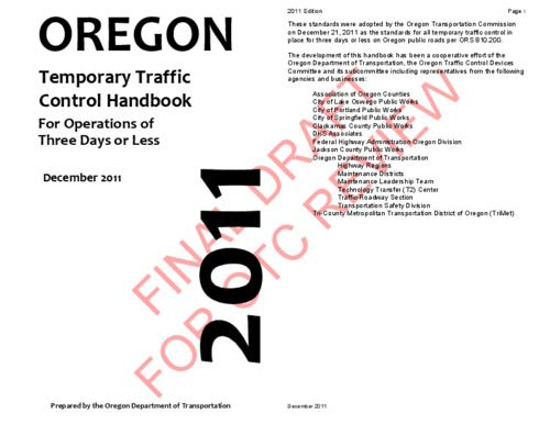 "This archived document is maintained by the Oregon State Library as part of the Oregon Documents Depository Program.  It is for informational purposes and may not be suitable for legal purposes., Title from PDF cover (viewed on April 22, 2014), ""Final draft for OTC review""--Watermark, Includes index, Mode of access: Internet from the Oregon Government Publications Collection., Text in English"