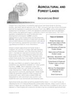 Agricultural and forest lands, Agricultural and forest lands background brief,...