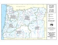 Oregon Water Resources Commission district representation, District representation...