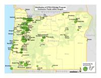 Distribution of OTIA III bridge program contractor funds within Oregon