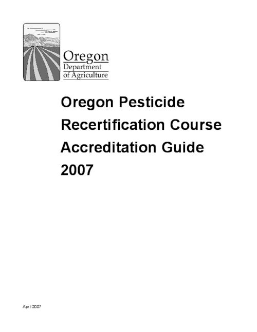 "This archived document is maintained by the Oregon State Library as part of the Oregon Documents Depository Program.  It is for informational purposes and may not be suitable for legal purposes., Title from PDF title page (viewed on July 6, 2009), ""April 2007."", Mode of access: Internet from the Oregon Government Publications Collection."