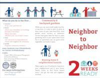 Neighbor to neighbor: 2 weeks ready