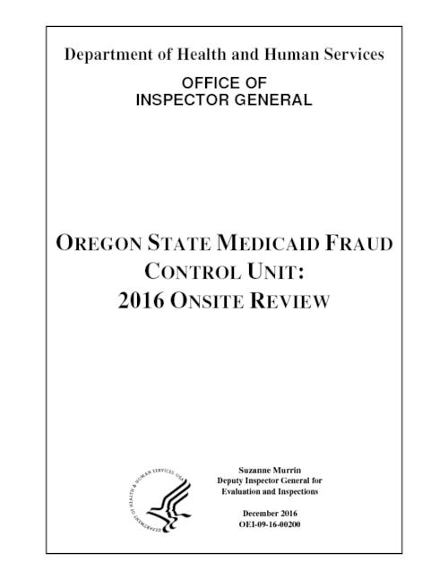 "Title from PDF control (viewed on October 5, 2017)., ""OEI-09-16-00200."", This archived document is maintained by the State Library of Oregon as part of the Oregon Documents Depository Program. It is for informational purposes and may not be suitable for legal purposes., Includes bibliographical references., Mode of access: Internet from the Oregon Government Publications Collection., Text in English."